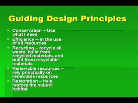Green Building Design Principles YouTube