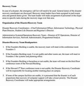 sample disaster recovery plan template 7 download free With disaster recovery plan sample document