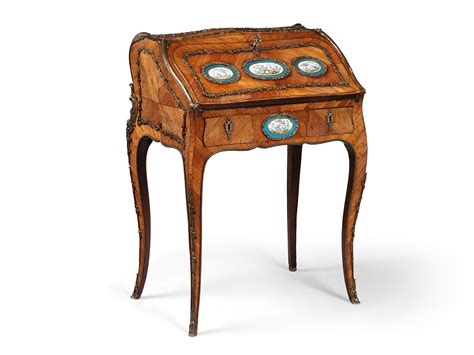 bureau napoleon iii a napoleon iii ormolu and porcelain mounted kingwood