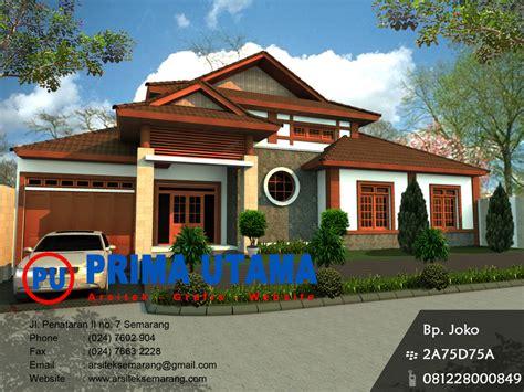 desain rumah etnik cv prima utama