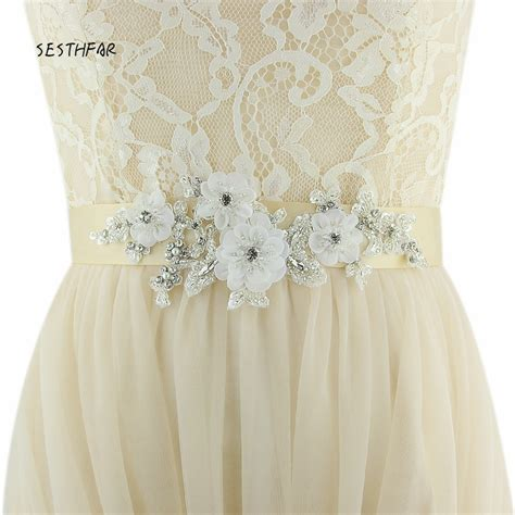 aliexpress com buy s358 wedding sashes diy wedding dress