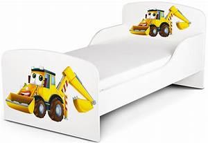 Kinderbett Matratze 140x70 : kinderbett 140x70 cm mit matratze thema herr bagger ~ Frokenaadalensverden.com Haus und Dekorationen