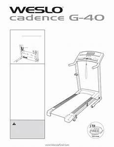 Weslo Cadence G40 Treadmill User Manual