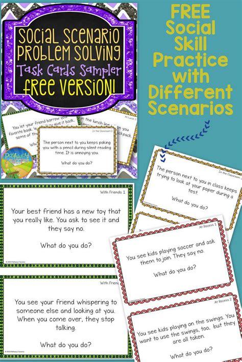 social problem solving task cards teaching social