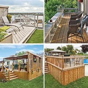 30 styles de garde corps pour un look unique patio With modele de terrasse en bois exterieur 4 ecran dintimite exterieur patio du nord