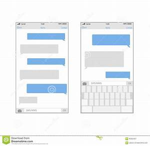 Iphone Text Message Bubble Template