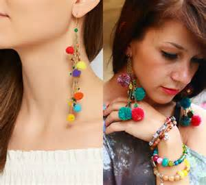 two way earrings pom pom earrings breathtaking jewelry for trendy