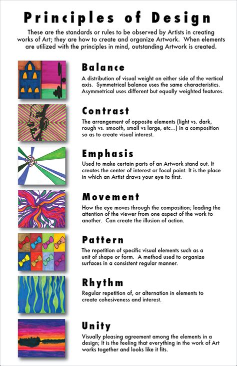 principles and elements of design artwithv licensed for non use only elements