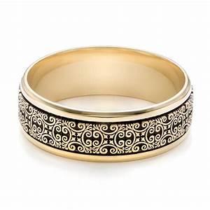 Men39s Engraved Wedding Band 101051 Seattle Bellevue