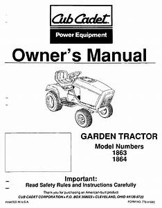 Cub Cadet 1864 Owner U0026 39 S Manual