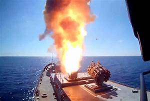 Russian Warships, Submarine Fire Cruise Missiles on ISIS ...