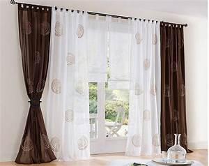 Vorhänge Braun Weiß : gardinen dekorationsvorschl ge wohnzimmer ~ Sanjose-hotels-ca.com Haus und Dekorationen
