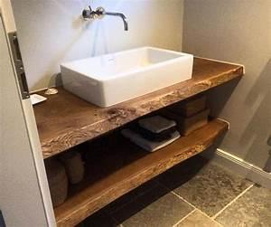 Waschtischplatte Holz Rustikal : waschtisch konsole waschtischkonsole waschtischplatte massiv aus holz auf ma eiche holzwerk ~ Sanjose-hotels-ca.com Haus und Dekorationen