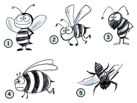 drawing  cartoon bee