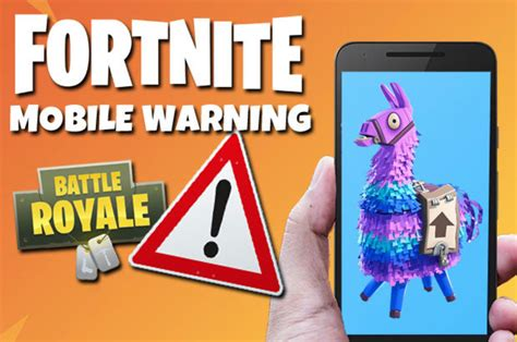 fortnite mobile warning epic games caution  sign