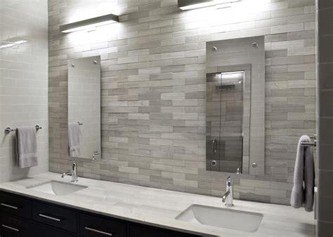 Modern Bathroom White Tile by Modern White Bathroom With Sleek Gray Tile Backsplash Hgtv