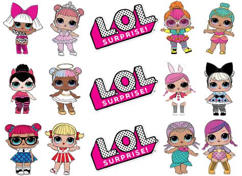 lol surprise doll assorted edible cake topper image
