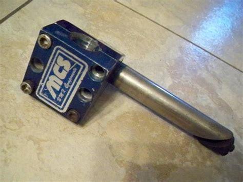 bmxmuseumcom  sale blue mcs  bolt stem