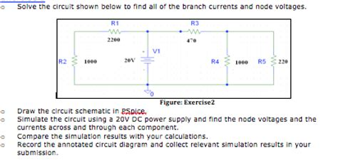 Solved Solve The Circuit Shown Below Find All