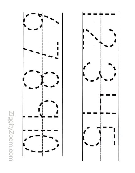 Printable Numbers Tracing Worksheet For Preschool  Number Formation, For Kids And Preschool