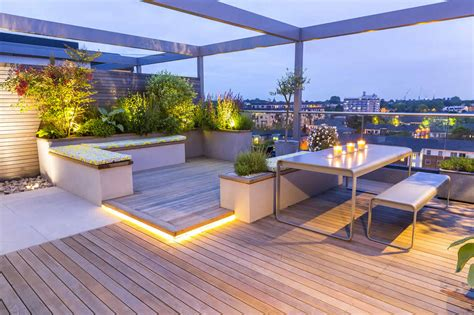Decoration Home Interior - roof terrace design penthouse apartment king 39 s cross development led lighting expanse of