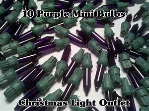 1000 White Christmas Lights 10 Purple Replacement Mini Glass Bulbs Incandescent 2 5