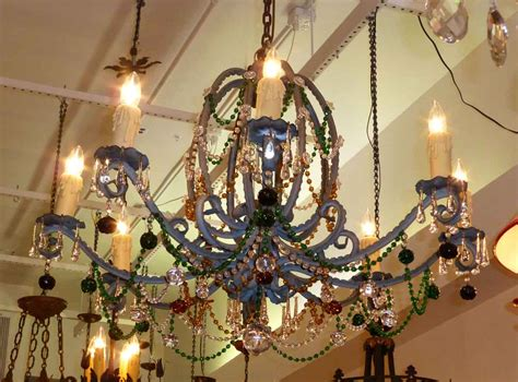 chandelier multi colored antique nouveau multi colored