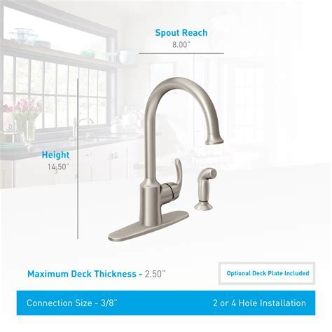 Moen 87301SRS Spot Resist Stainless High Arc Kitchen