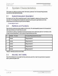 system subsystem specification template technical With technical specification template example