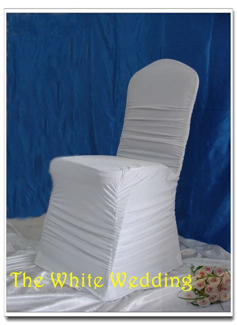 white spandex ruffled chair covers with buckle wedding