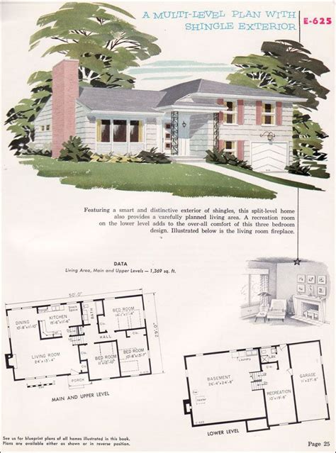 4 bedroom ranch floor plans split level house plans 1960s