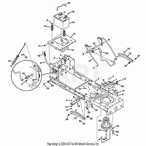 Troy Bilt 13wn77ks011 Pony  2013  Parts Diagram For Frame