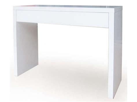 bureau informatique ikea console epure laqué blanc vente de console conforama