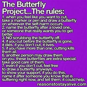 People that self harm... Please try the butterfly project ...