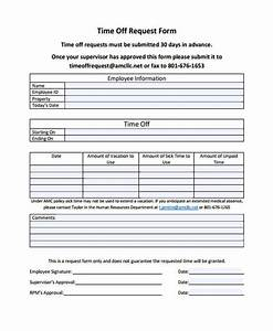 25 time off request forms With outlook form templates