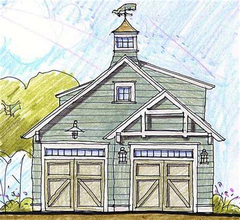 Twocar Garage With Cupola & Loft 12431ne