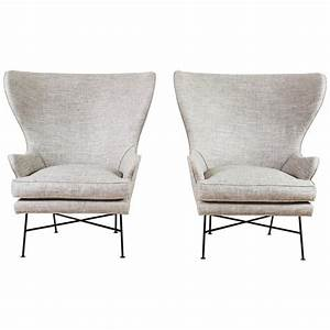 Pair, Of, Modern, Highland, Wingback, Chairs, By, Lawson
