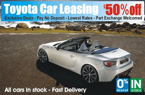 toyota leasing company best car deals for nhs staff go4carz com