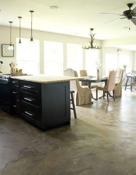 How We Stained Our Concrete Floors   Savvy Apron