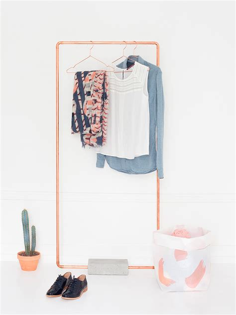 gold clothing rack open closet ideas for small spaces