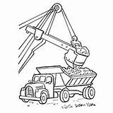 Truck Coloring Crane Pages Printable Construction Print Chuck sketch template