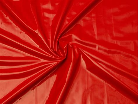 Mjtrends Patent Vinyl Fabric Red