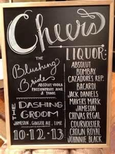 Wedding Open Bar Sign Chalkboard