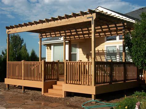trex composite outdoor deck  cedar pergola