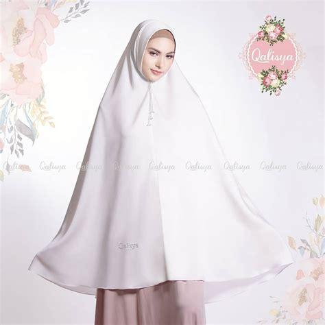 hijab syari warna putih tutorial hijab terbaru
