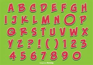 Letters Font Style Cute Watermelon Style Alphabet Set Download Free Vectors