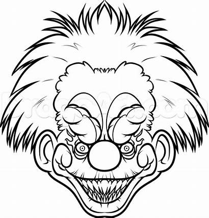 Killer Draw Clown Scary Easy Drawing Clowns