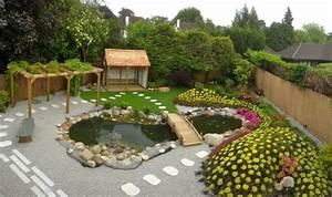 Jardin Avec Bassin : decoration jardin avec bassin ~ Melissatoandfro.com Idées de Décoration