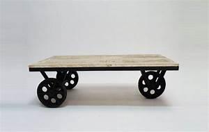 Table Basse Sur Roulette : 53 id es de table basse d co pour votre salon ~ Teatrodelosmanantiales.com Idées de Décoration