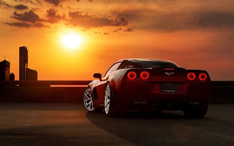 Car Sunset Wallpaper by Amazing Concept Car In Sunset Hd Other Cars Wallpapers